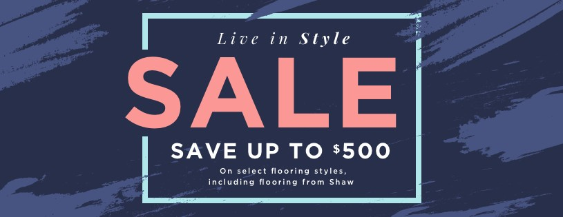 Live In style sale banner | Staff Carpet