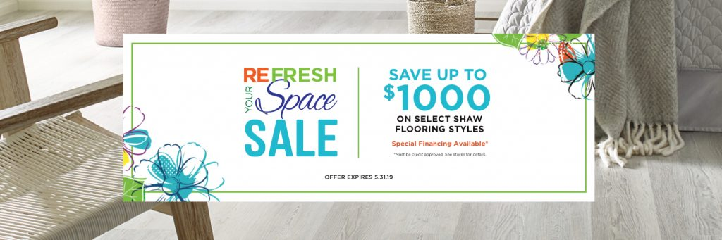 Refresh your space sale banner | Staff Carpet