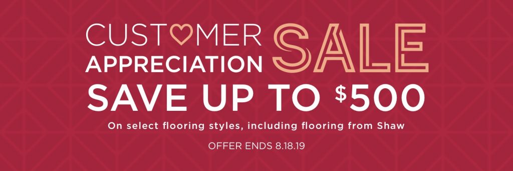 Customer appreciation sale banner | Staff Carpet