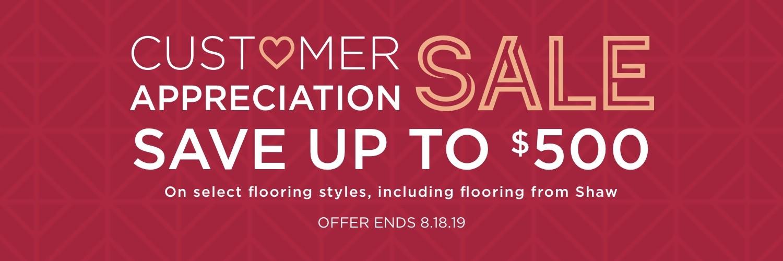 Customer appreciation sale banner | Staff Carpet