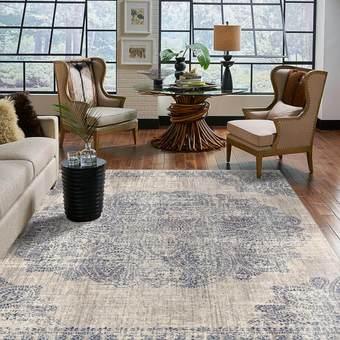 Armchair on Area Rug | Staff Carpet