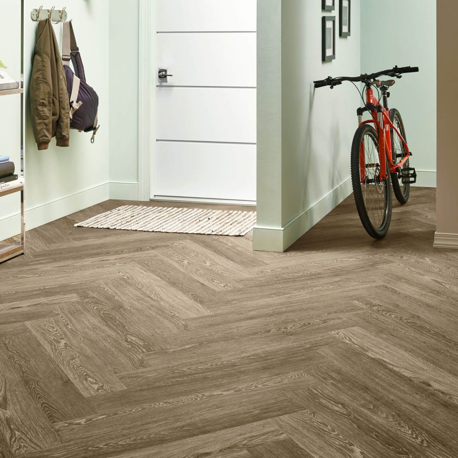 Bicycle on flooring | Staff Carpet