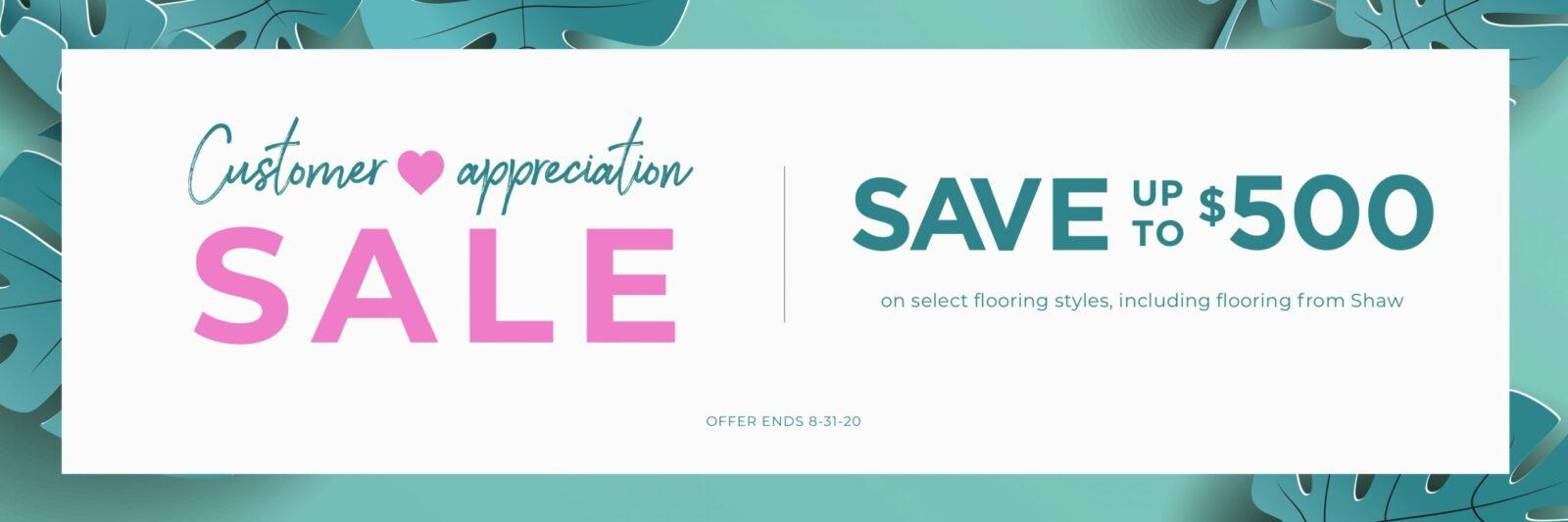 Customer appreciation sale | Staff Carpet