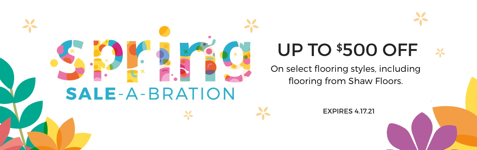 Spring Sale-A-Bration | Staff Carpet