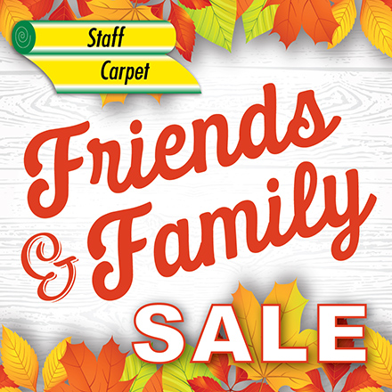 friends and family sale background